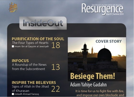 NEW AL-QA'IDA ENGLISH-LANGUAGE MAG: 'RESURGENCE'