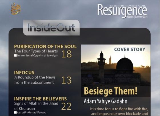 NEW AL-QA'IDA ENGLISH-LANGUAGE MAG: 'RESURGENCE'
