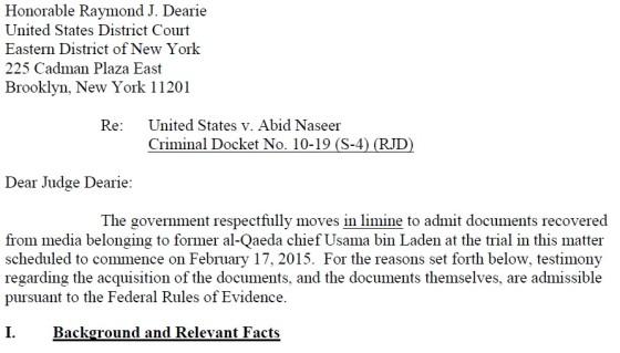 ABBOTTABAD DOCUMENTS REVEALED IN US v. ABID NASEER